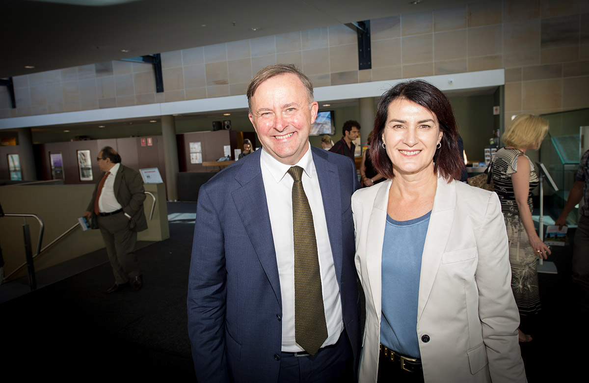 Lysicrates Prize 2016 Anthony Albanese and Carmel Tebbutt