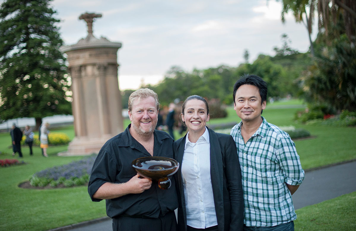 Lysicrates Prize 2015 Winner Steve Rodgers with Lee Lewis and Director Darren Yap